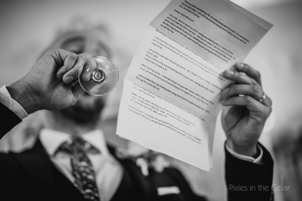 groom speech photo detail
