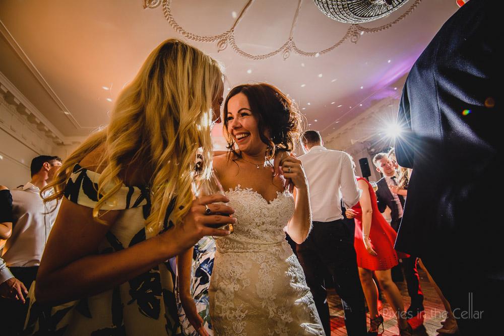 bride party night shots