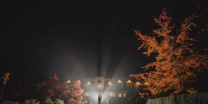 Eaves Hall Autumn Wedding photography