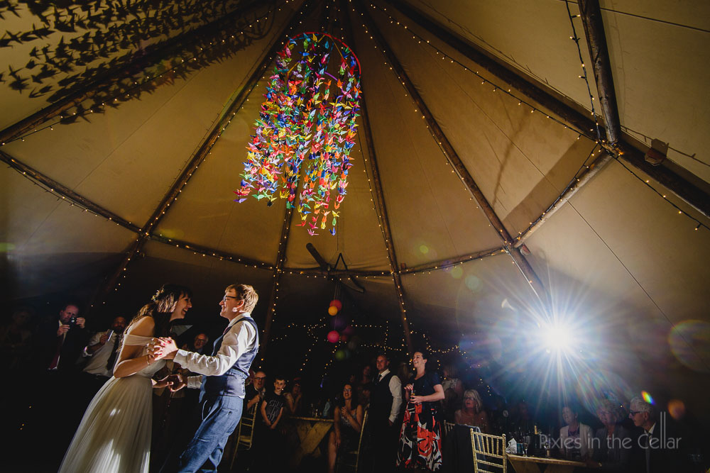 Tipi Wedding Photography at Thwaite Mills, Leeds.