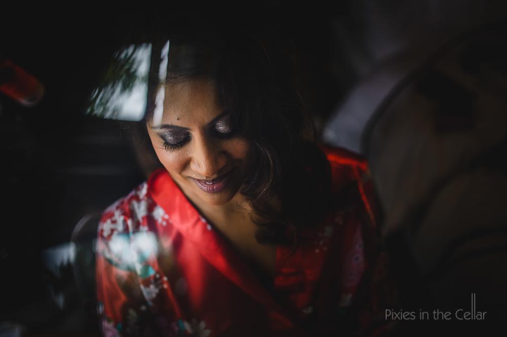 sparkly eye shadow sri-lankan manchester wedding