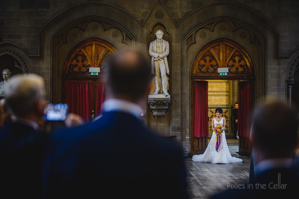 Grand entrance of bride
