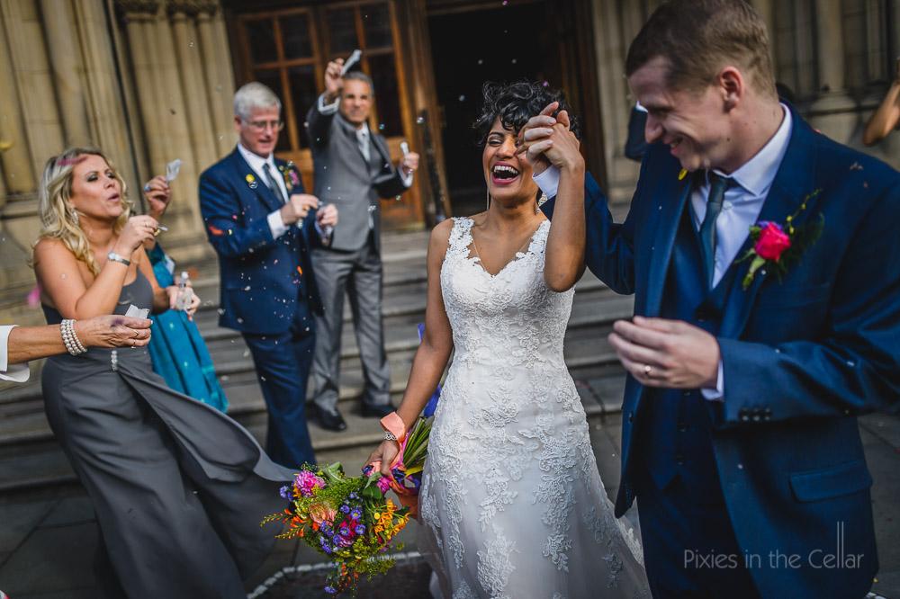 wedding confetti bubble exit
