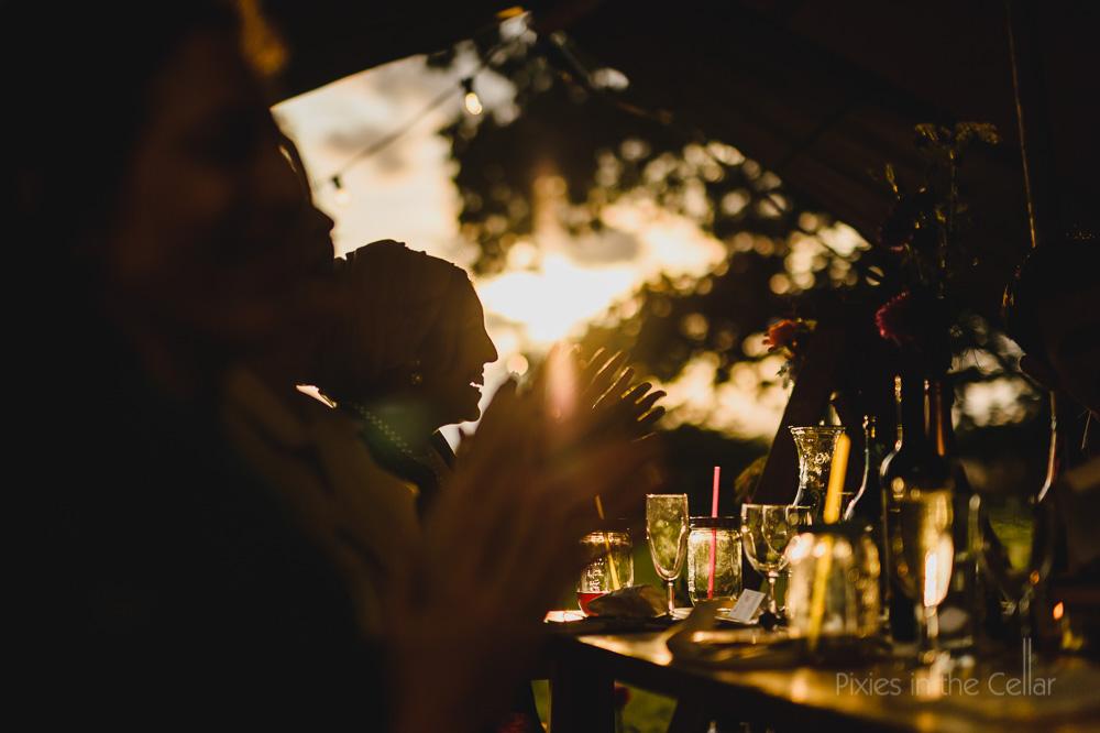 late summer wedding speeches outdoors