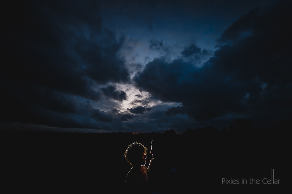 moody skies dark wedding photos