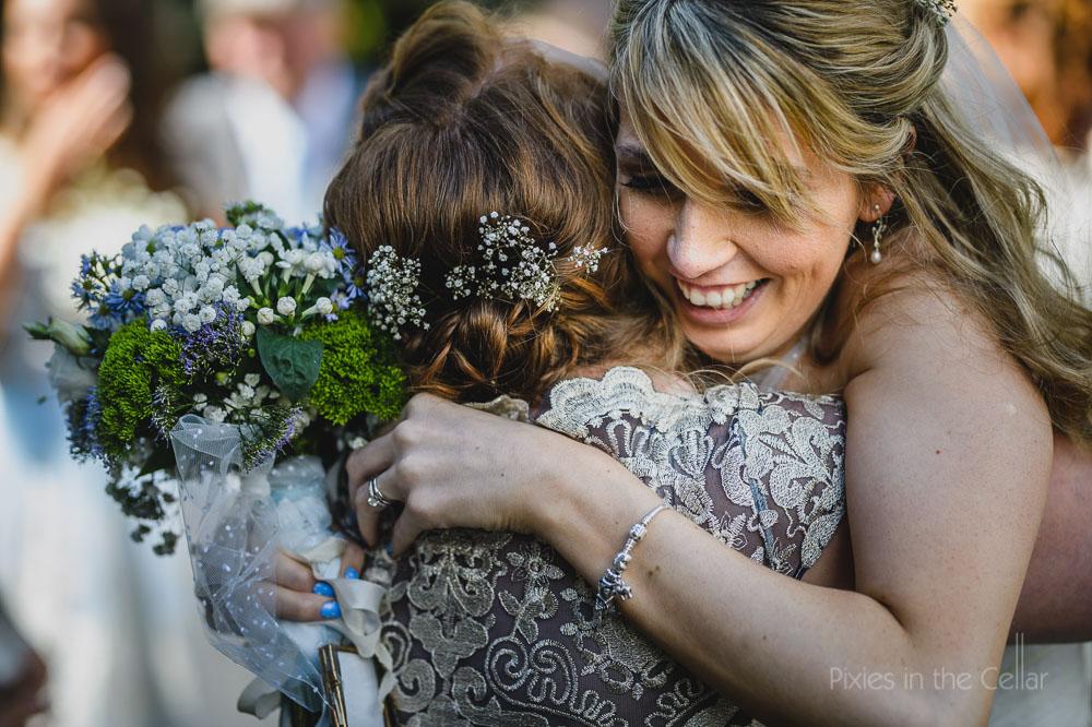 bride bridesmaid love