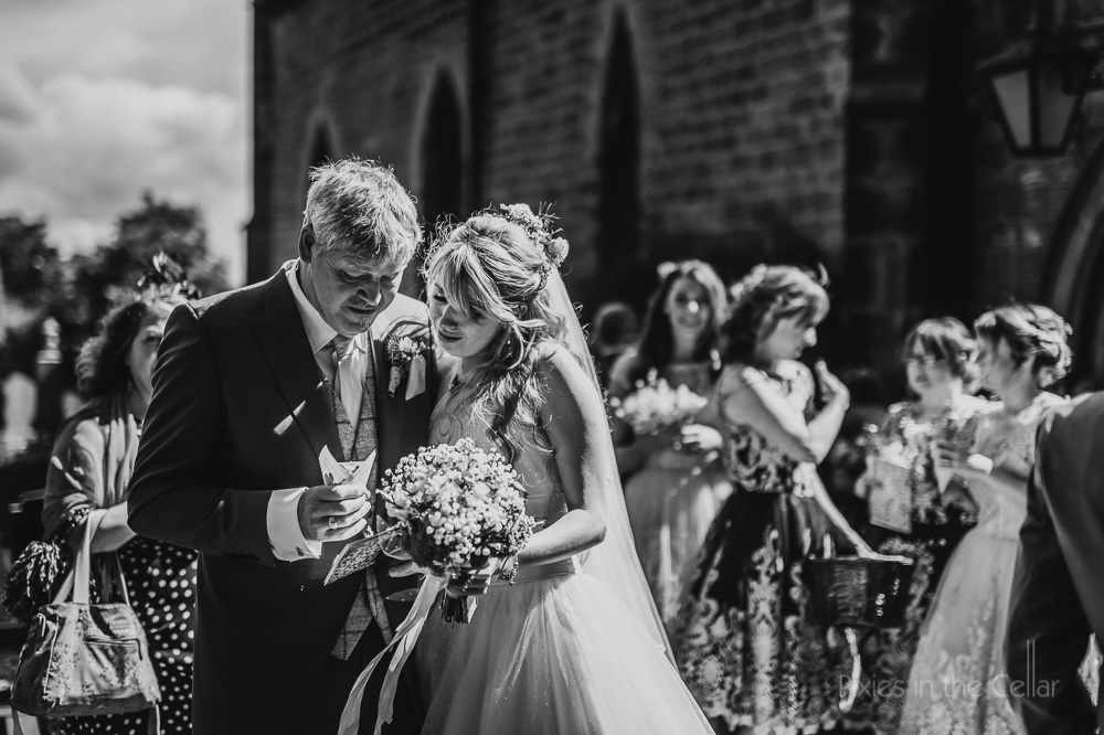 bride and dad natural wedding photography moments