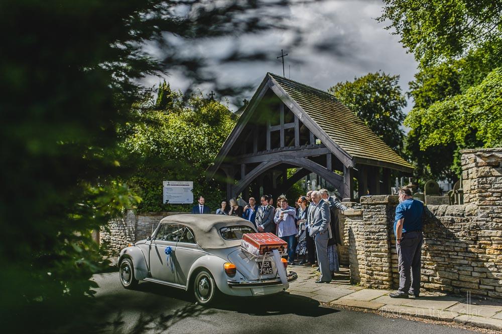 VW beetle wedding car sheffield
