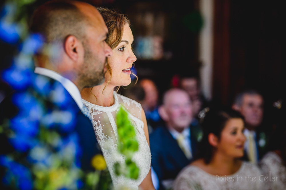 Hargate Hall wedding ceremony in great hall