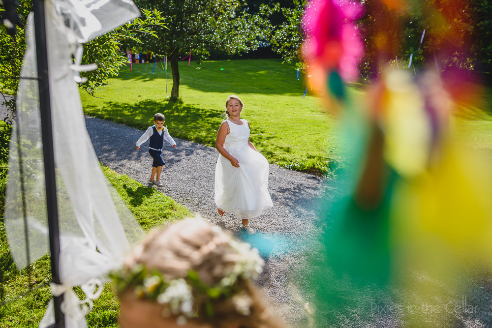colourful wedding photography children