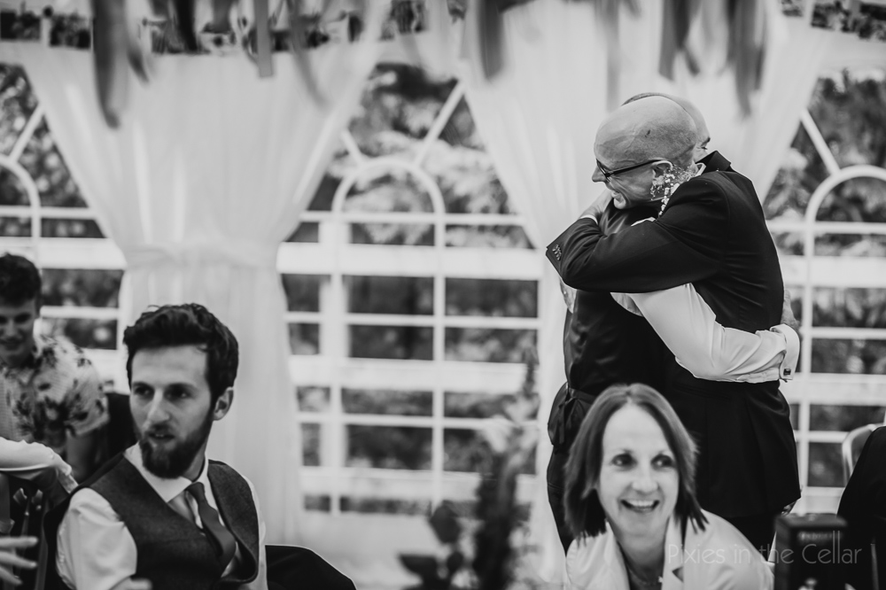 documentary wedding photography speeches hugs