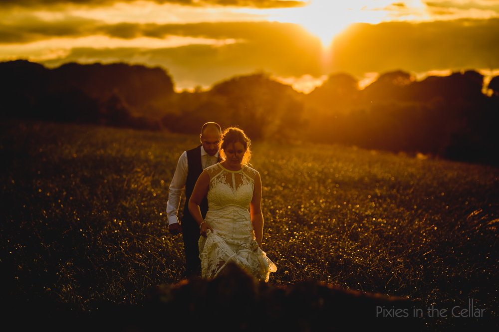 wedding golden hour photography