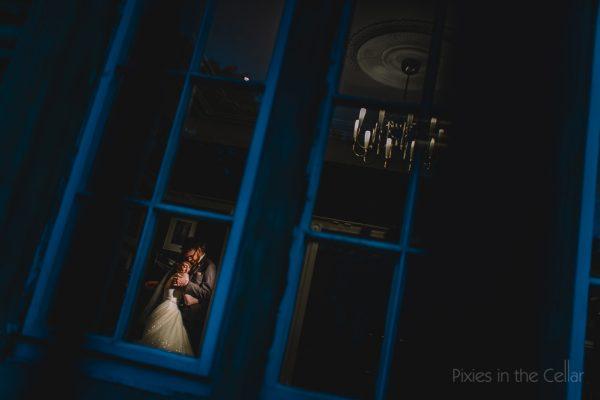 Woodlands wedding photography evening light