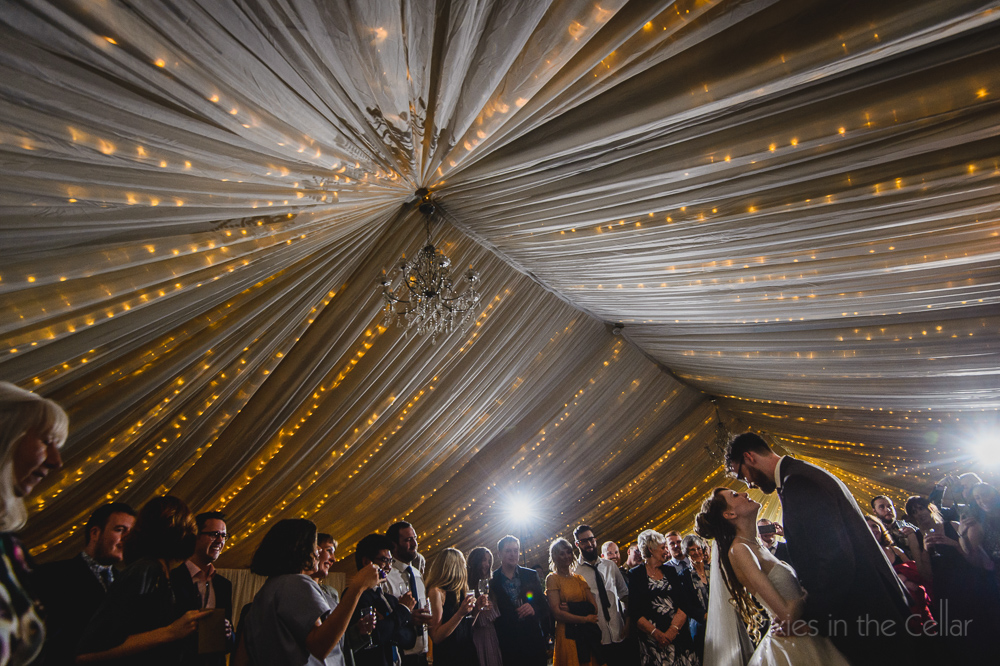 Yorkshire wedding marquee party