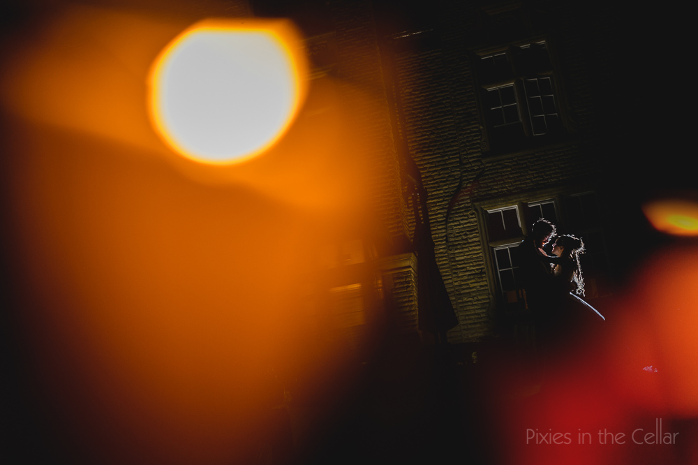 Woodlands wedding photography - night time