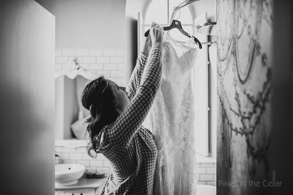 bridal prep wedding dress elopement
