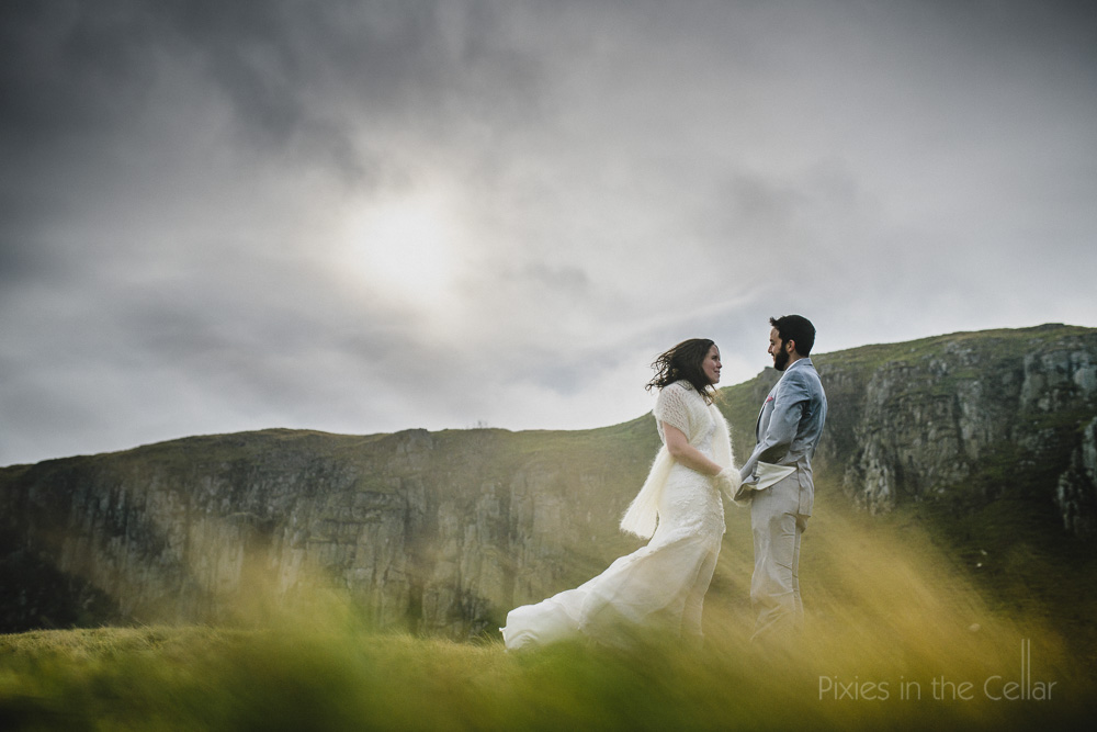 outdoor wedding ceremony elopement photography