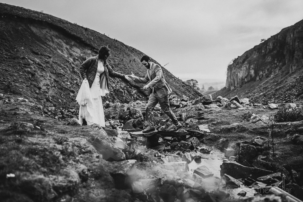 wilderness English wedding outdoorsy couple