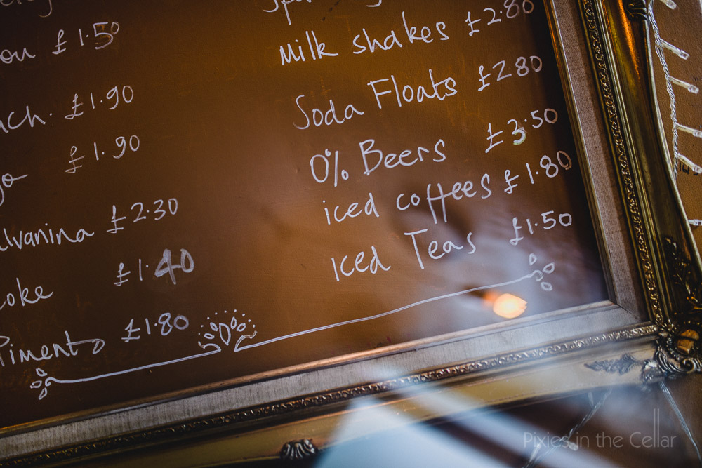 cafe drinks menu barnard castle