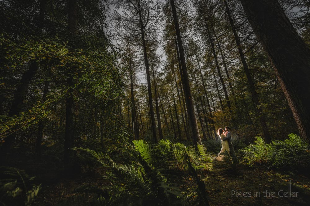 elopement photography in UK woodland