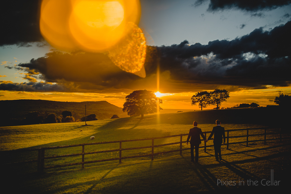 cheshire same sex wedding photography sunset