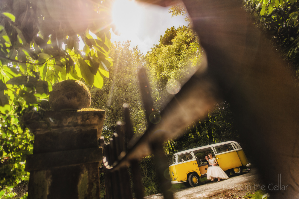 vw camper wedding photo yellow summer