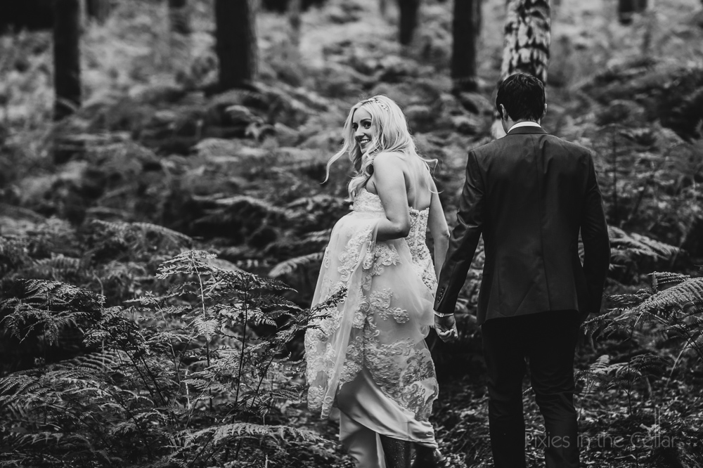 Into the woods wedding walking