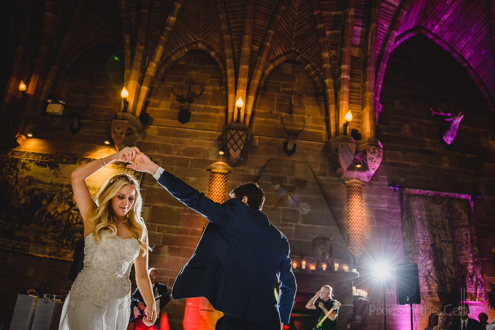 Peckforton Castle wedding dance
