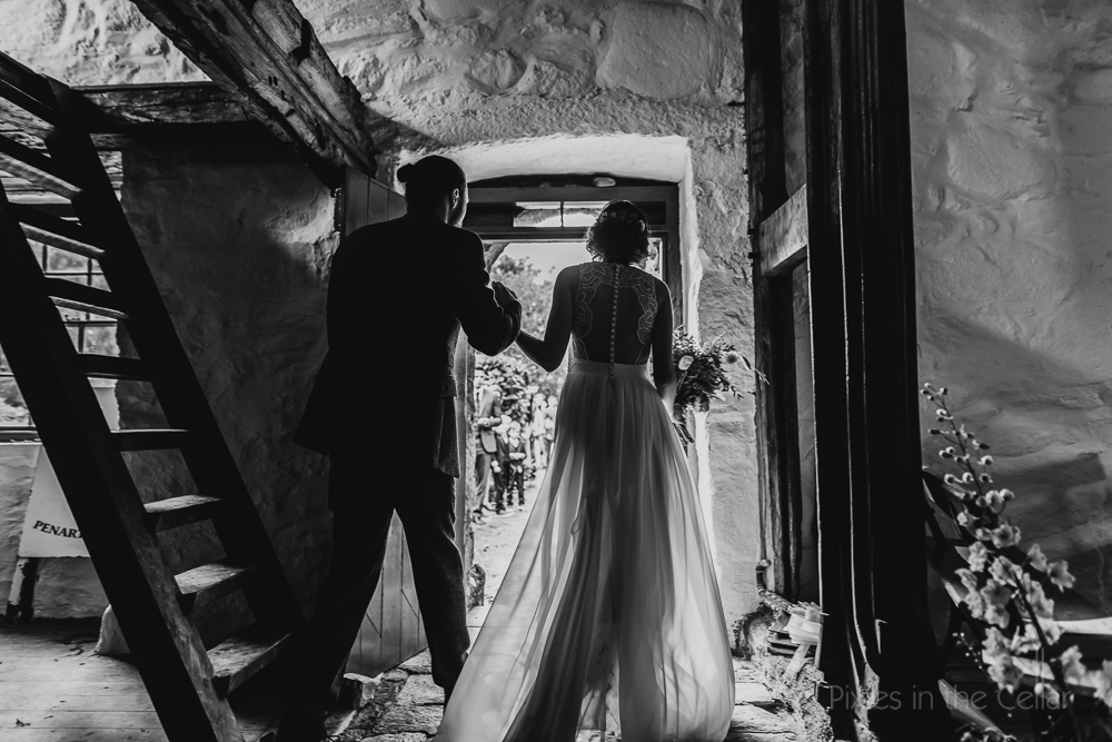 Penarth Fawr wedding exit North Wales