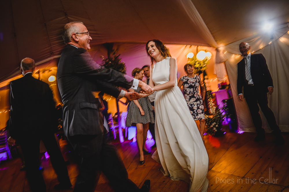 Daughter and dad wedding dance photo