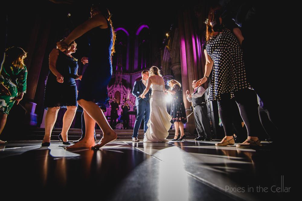 Monastery wedding dancing
