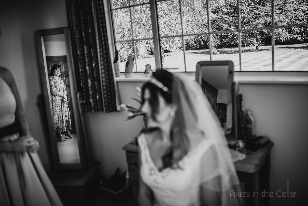 bride and mum reflections