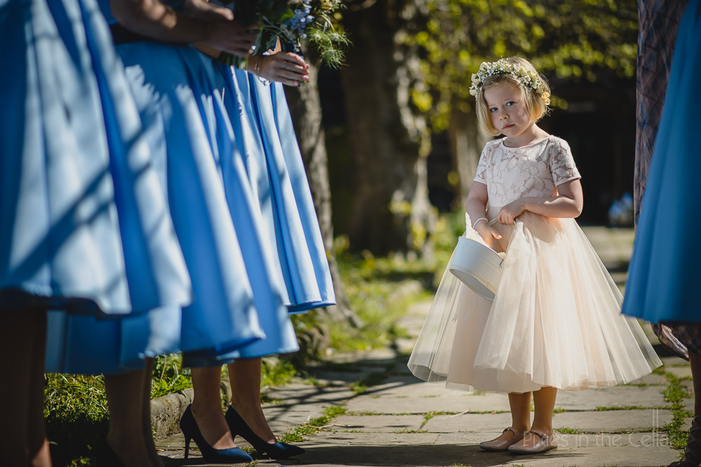 bridesmaids and flower girl cheshire wedding photography