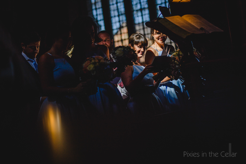 church wedding sun light