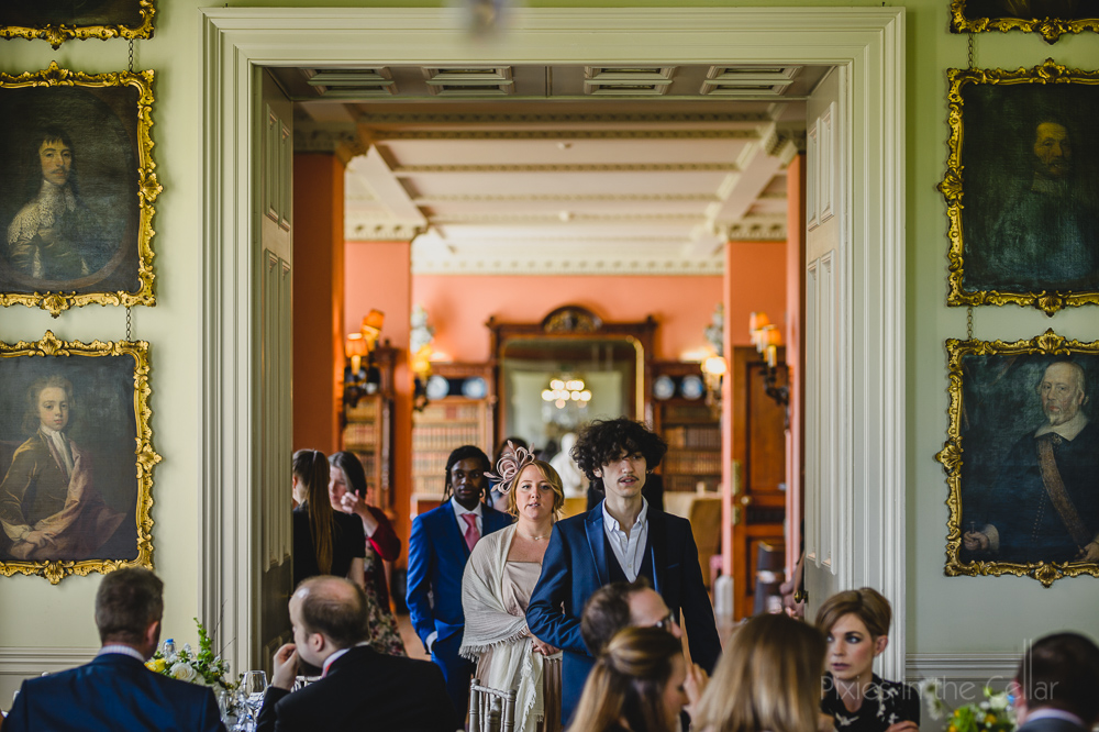 Prestwold hall wedding breakfast guests arriving