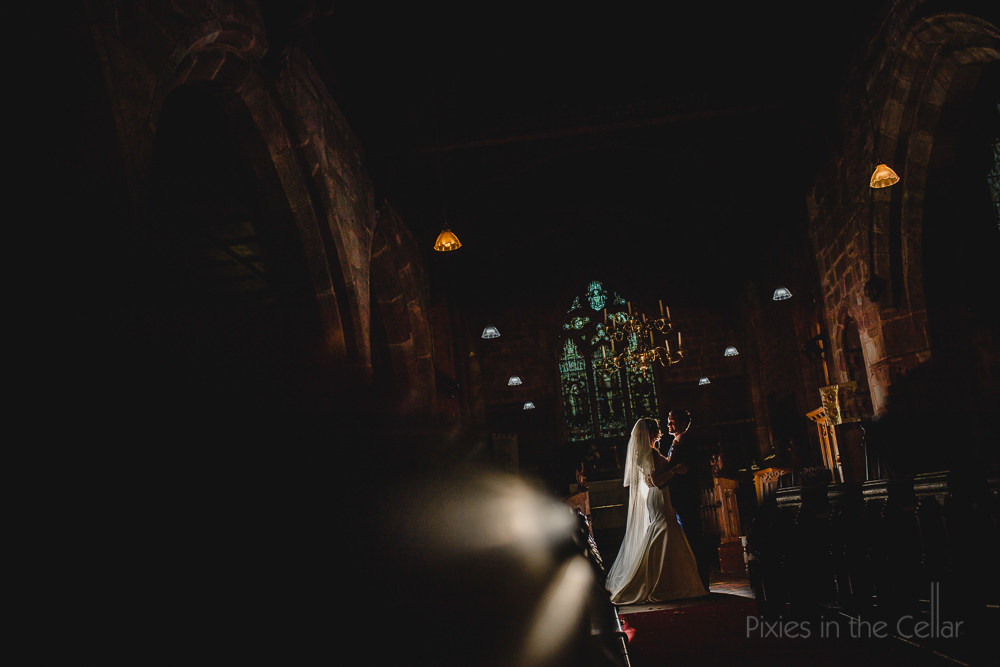 Pixies in the cellar church wedding