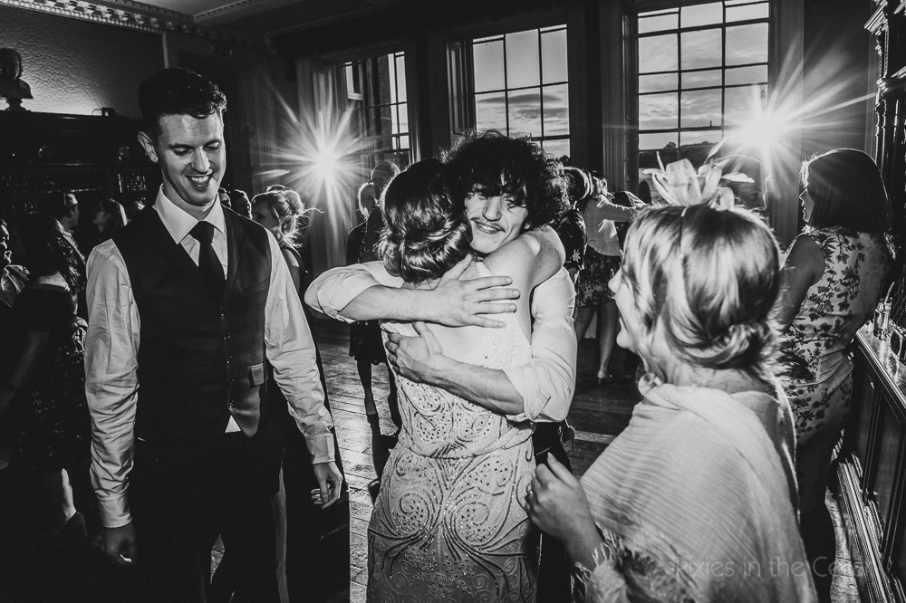 evening wedding hugs documentary uk photography