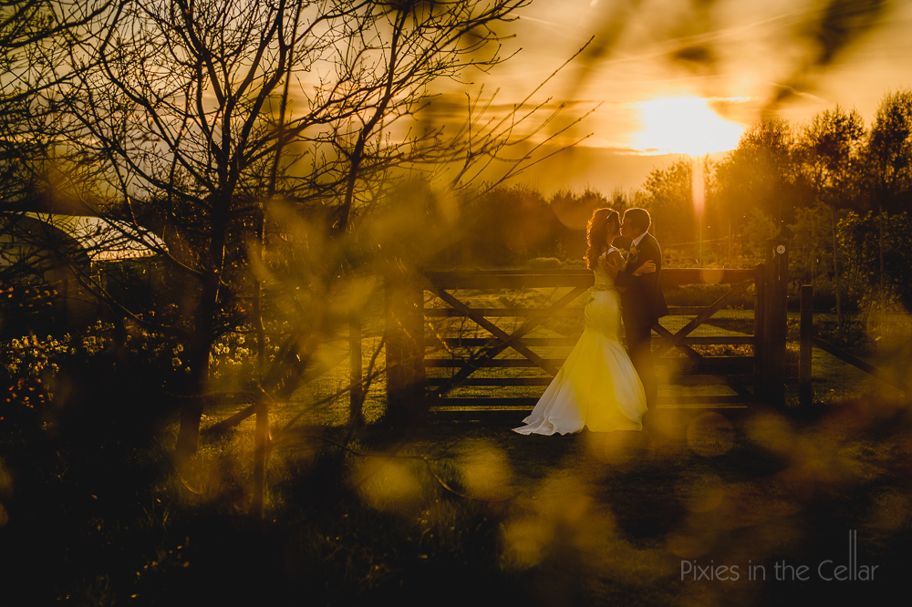 English sunset wedding