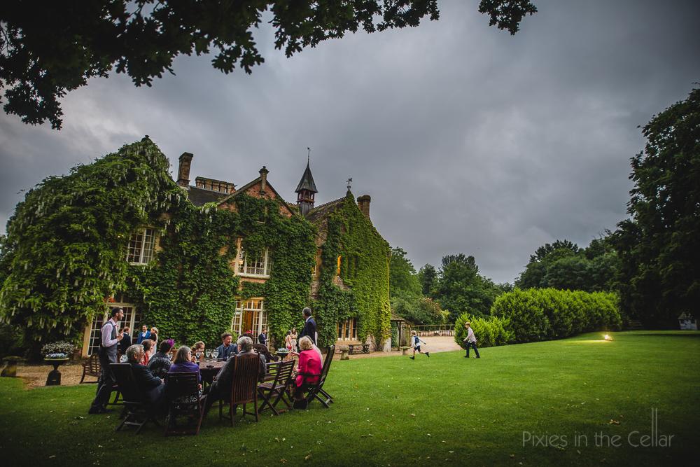 relaxed evening wedding reception summer UK