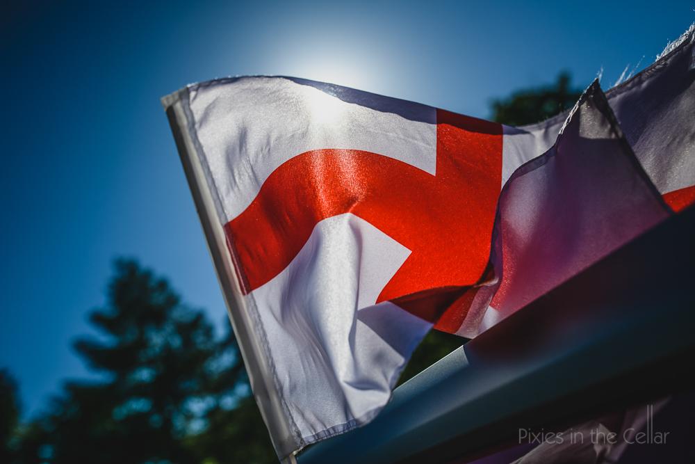 England flag sunny day