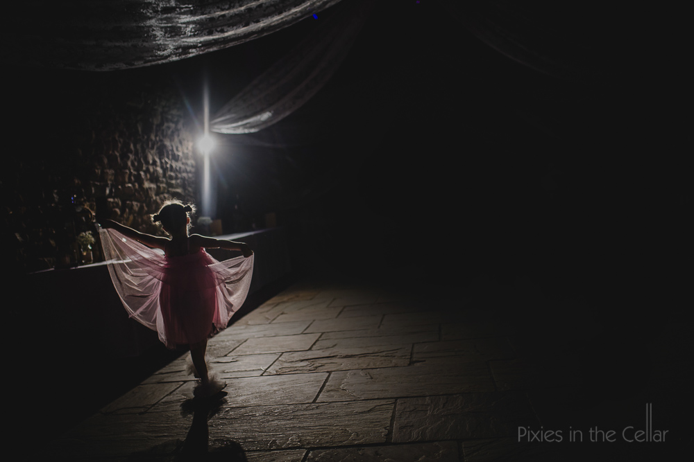 Family wedding photography night pink dress