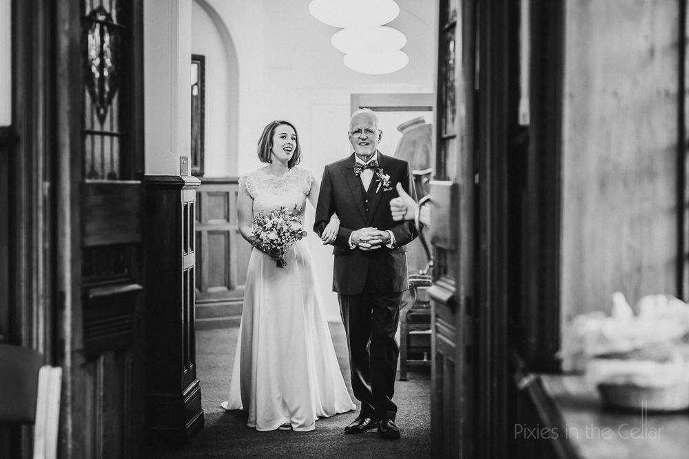 Altrincham wedding photography town hall entrance