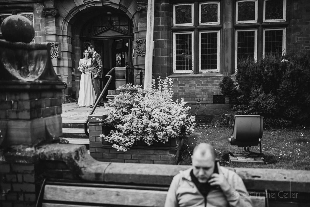 town centre wedding documentary photography