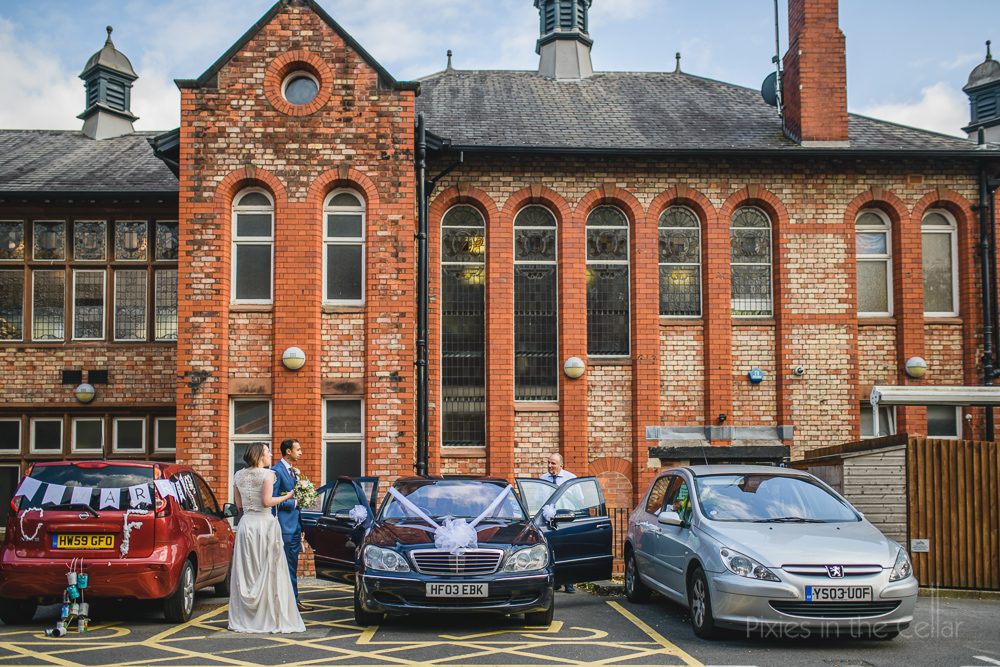 wedding tradition tin cans UK photography