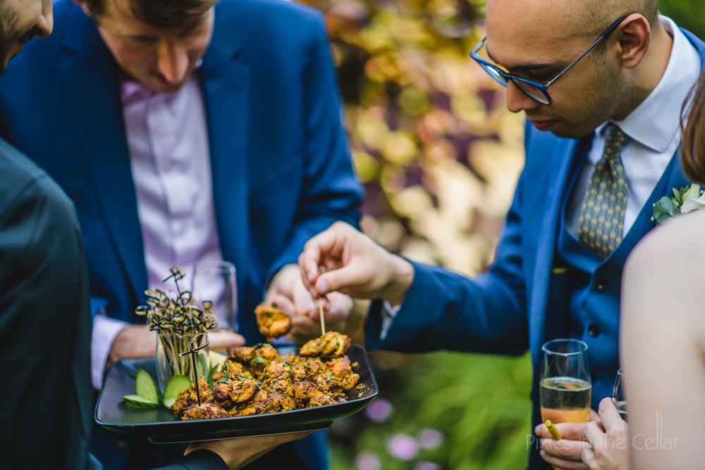 Indian street food canapés wedding