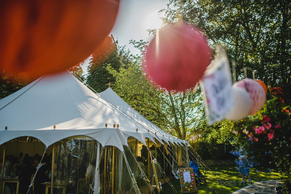 traditional wedding marquee garden party