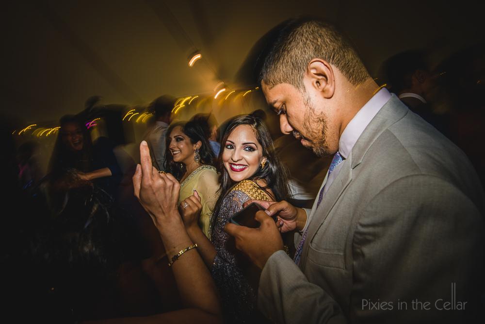 phones at weddings dancing