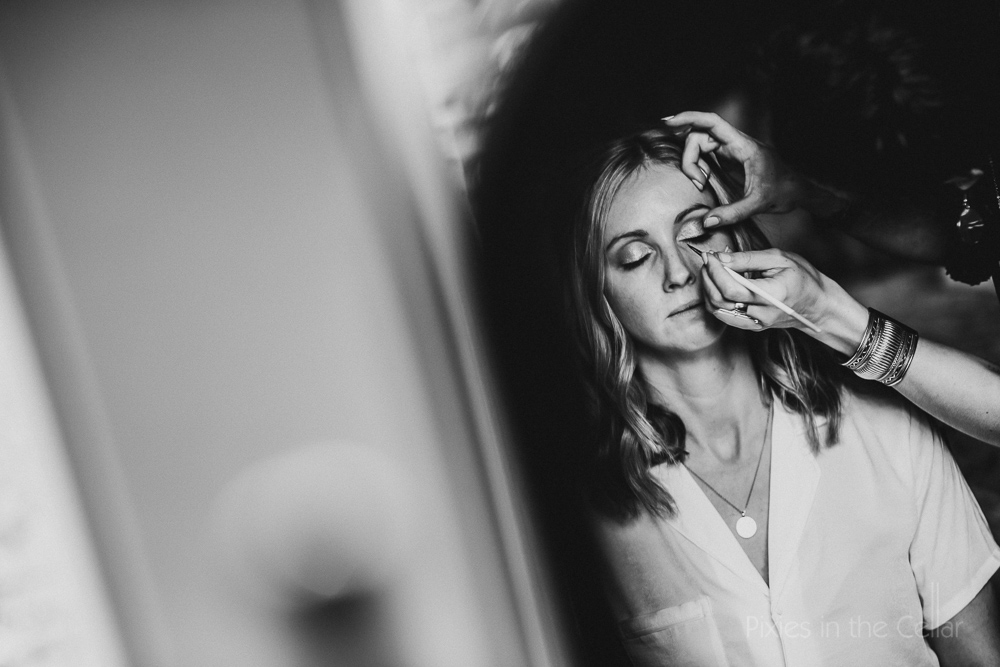 bridal make up reflection photo