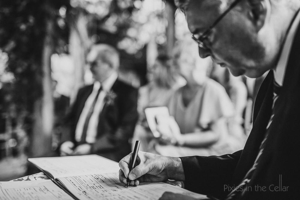 The register - wedding paperwork