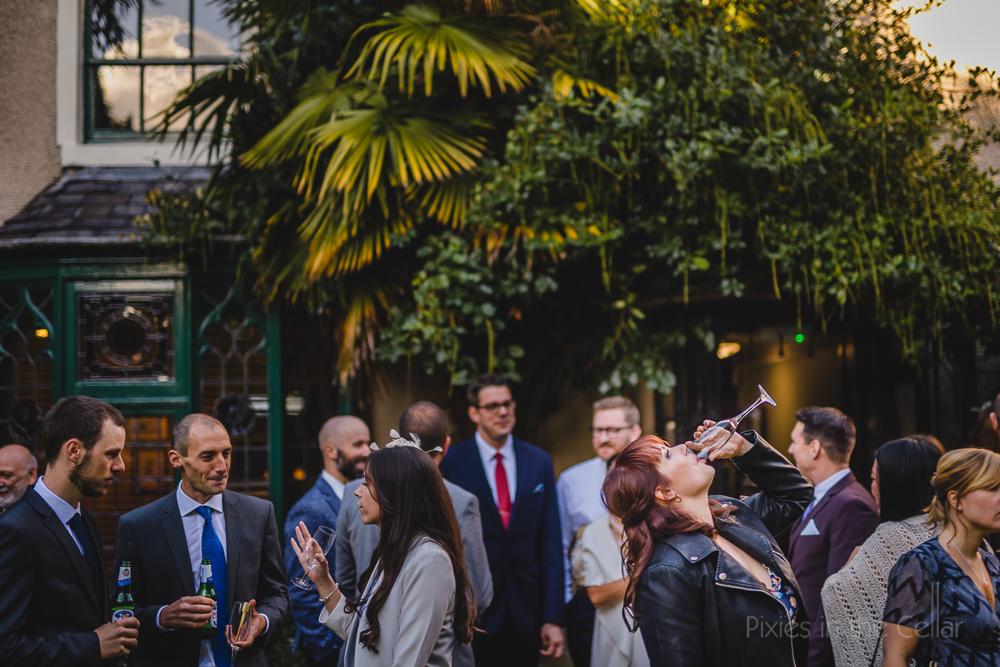 Didsbury Parsonage wedding reception drinks autumn